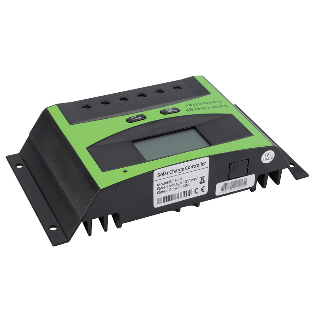 New Arrived LCD 40A 12V/24V Autoswitch Solar Panel Battery Regulator Charge Controller ST1-40A Hot Sale 2017