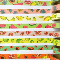 Free shipping beautiful high quality washi paper tape 15mm 10m fruit party masking japan washi tape.jpg 250x250