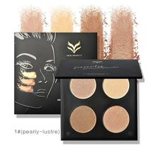 4 Colors Bronzer And Highlighter Powder Pallete Makeup Bronzer Powder Highlight Face Breathable Contour Palette Multifunction