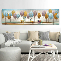 Cartoon Forest Deer Canvas Art Painting Nordic Poster And Print Modular Wall Picture For Kids Bedroom Home Decor Modern Cuadros