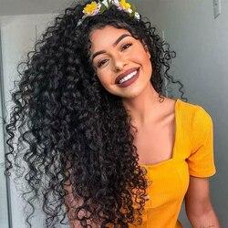 Парик из вьющихся человеческих волос 360, парик на сетке спереди, предварительно выщипанные Детские волосы, бразильские глубокие вьющиеся не...