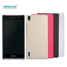 Huawei P7 Cas Nillkin Givré Bouclier Dur Retour Housse Pour Huawei Ascend P7 Cadeau Protecteur D'écran
