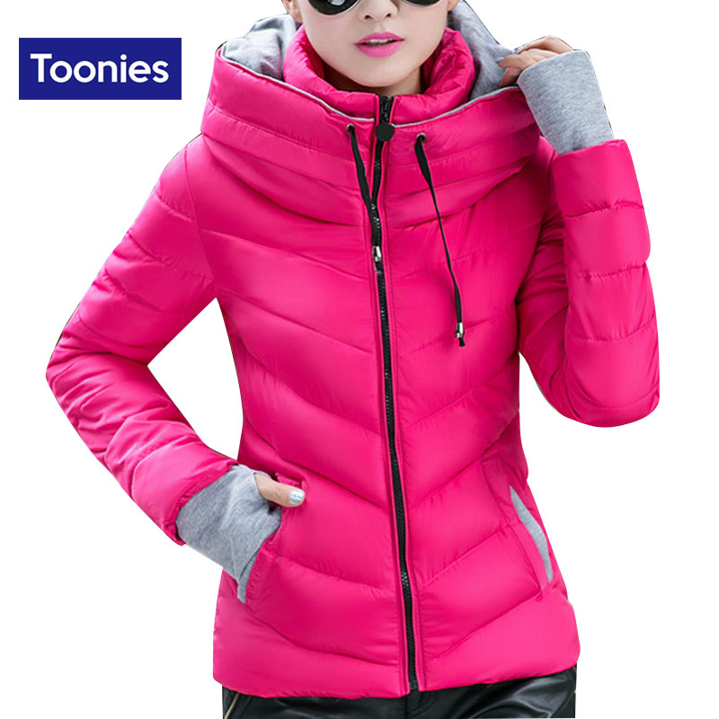 2016 New Winter Fashion Women Coat For Winter 8 Colors Womens Down Jackets Zipper Slim Winter Jacket Women Stand Collar Miegofce