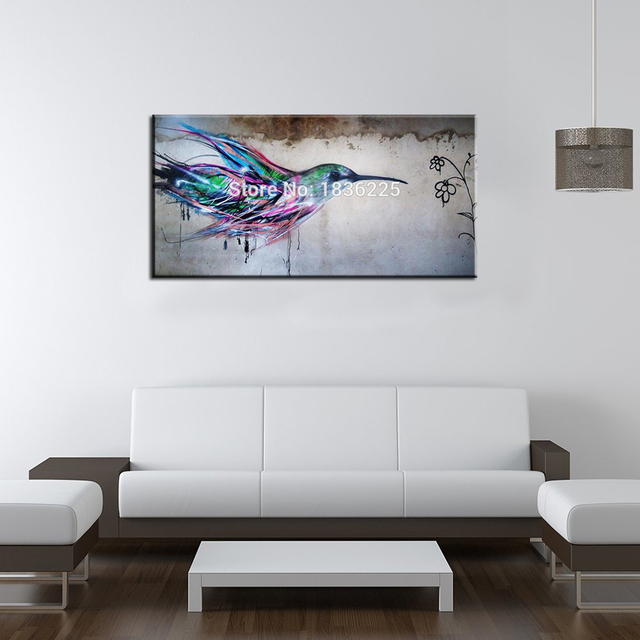 super quality 100 handmade flying bird oil painting on canvas colorful animal painting for kids room or living room decor art