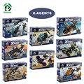 X-agentes 8 Unidades lot microfighters bloques de construcción de modelos y juguete del edificio de la policía kazi bloques compatibles con ladrillos lego