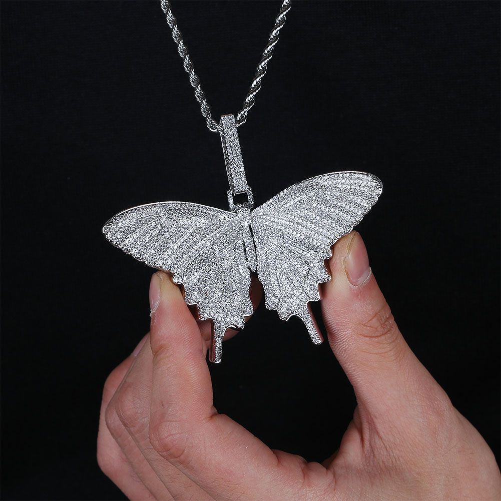 Image 5 - JINAO New Iced Out Insect Multicolor Butterfly Pendants&Necklaces Micro Pave Cuban Zircon Stone Pendant Necklace Hip Hop Gift-in Pendant Necklaces from Jewelry & Accessories