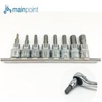 Mainpoint 8 шт. hex Бит гнездо шестигранный ключ, диск адаптер 3/8