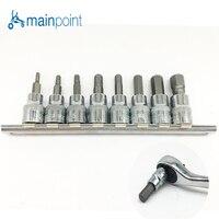 Mainpoint 8Pc Hex Bit Socket Allen Key Ratchet Drive Adapter Set 3 8 Socket Wrench Car