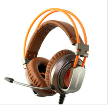 XIBERIA V10 Gaming Headset Surround Sound Over-ear Pro Emitting Shock LED Bass headphone with Mic for PC gamer headset