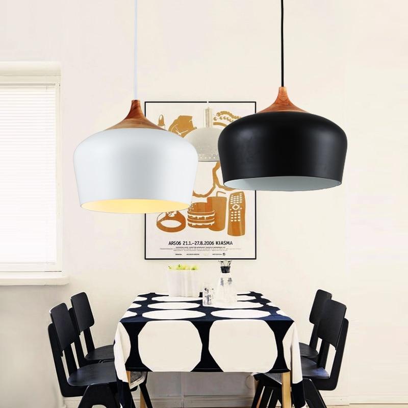 Modern Simple Chandeliers Lighting Fixtures Black White Chandelier Living Room Bedroom Kitchen Restaurant Lights