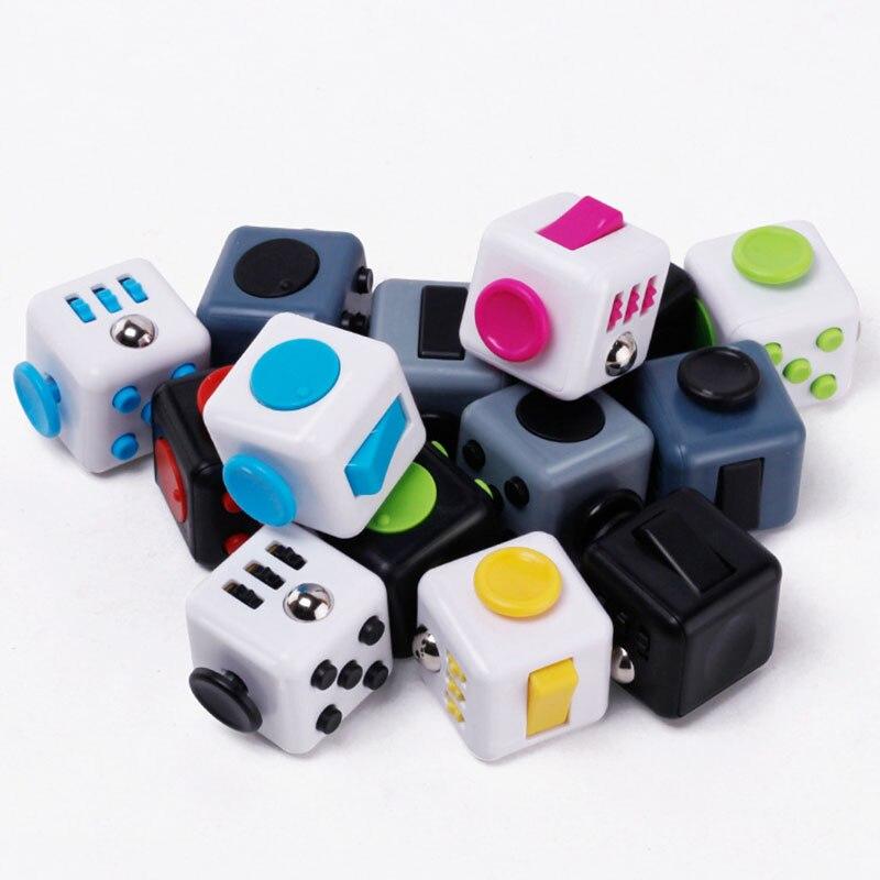 Mini Fidget Cube Toy Vinyl Desk Finger Toys Squeeze Fun Stress cube Reliever 3.3cm High Quality Antistress Cub