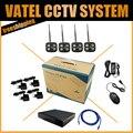 4 UNIDS P2P Inalámbrica Wifi Cámara IP 1080 P Bala Resistente A La Intemperie Con 4CH 720 P/960 P/1080 P NVR kit Sistema de Vigilancia Kit Sistema de CCTV