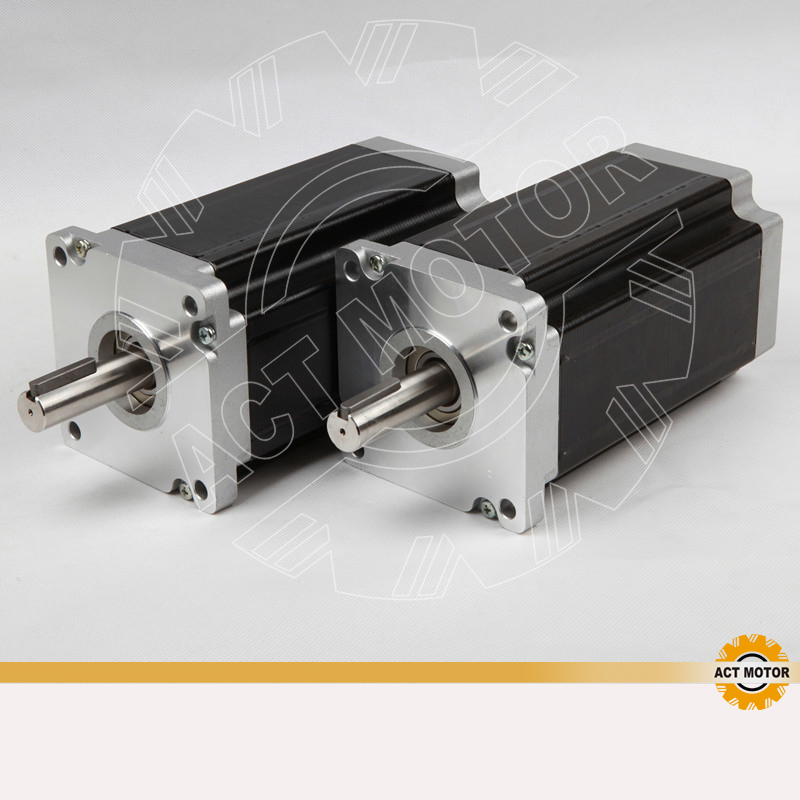 High Quality! ACT Motor 2PCS Nema42 Stepper Motor 42HS9460 100mm 6A 1700oz-in CE ROHS ISO CNC Milling Cut Router Machine