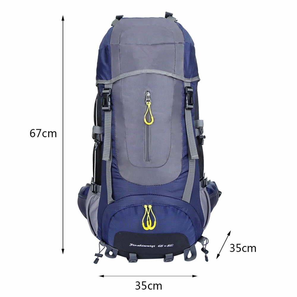 Large-Capacity 65L+5L Tactical Waterproof Unisex Backpack 67cm long