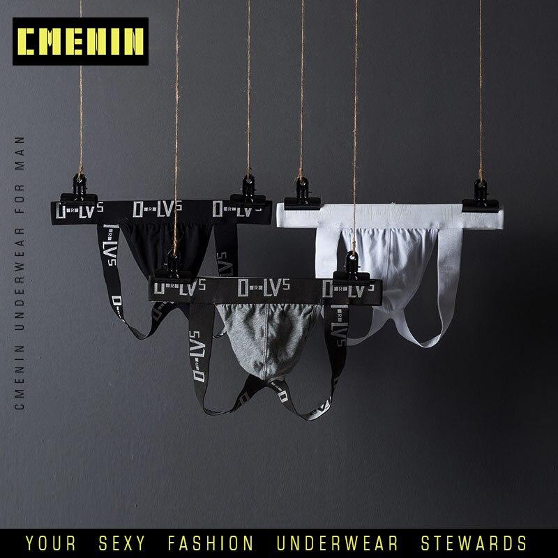 Sexy Mens Underwear Jockstraps Cotton Sexy Jocks Bikini G-strings Men Thong Cuecas Male Panties Briefs Gay Underwear Penis OR211