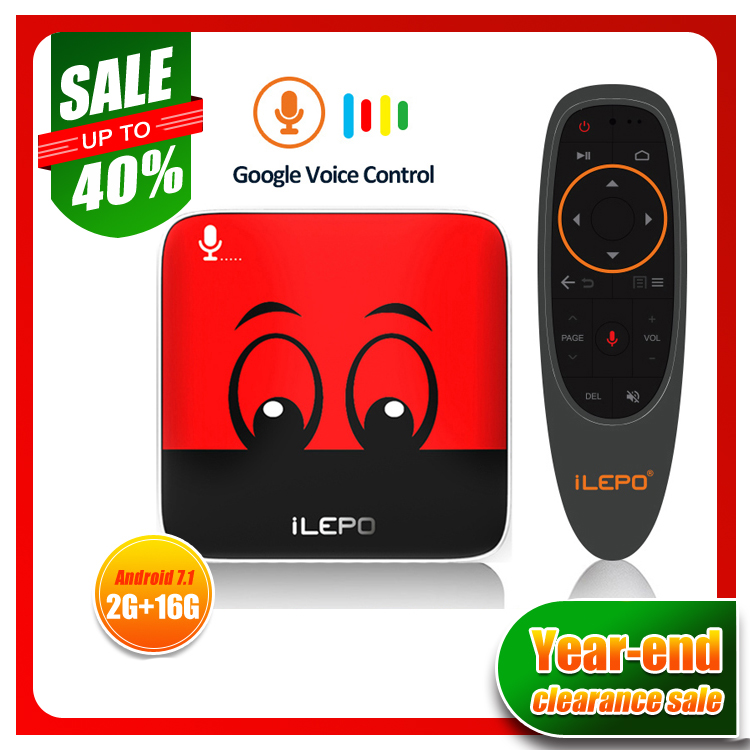Year end Clearance Sale i18 Google Voice Control Smart TV BOX Android 7 1 Amlogic