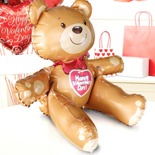 Large 3D Bear foil balloons childs Toys globos happy birthday balls inflatable toys for wedding party decoration