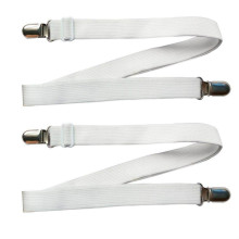 Adjustable Sheet Fasteners Under Mattress Bed Fitted Fastener Crisscross Straps Suspenders Slipcover