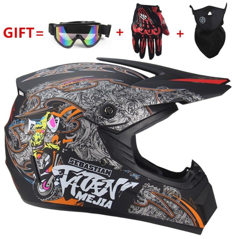 Casque moto adulte casque de course vélo descente course Cross casque enfants casque de sécurité DOT