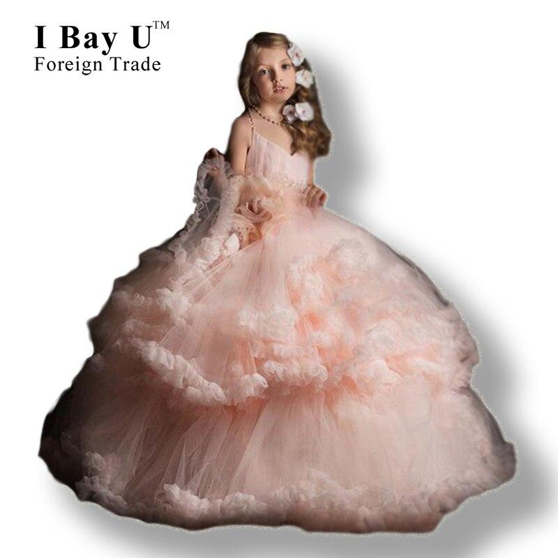 I Bay U Vestido De Daminha Flower Girl Dresses Girl Flower Dress 2016 Glitz Pageant Dresses For Little Girls Gowns Floor Length