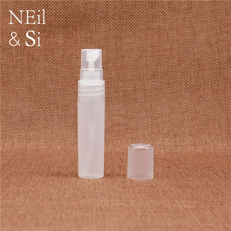 5ml Plastic Frosted Perfume Spray Bottle Refillable Cosmetic Women Makeup Water Atomizer Containers Free Shipping