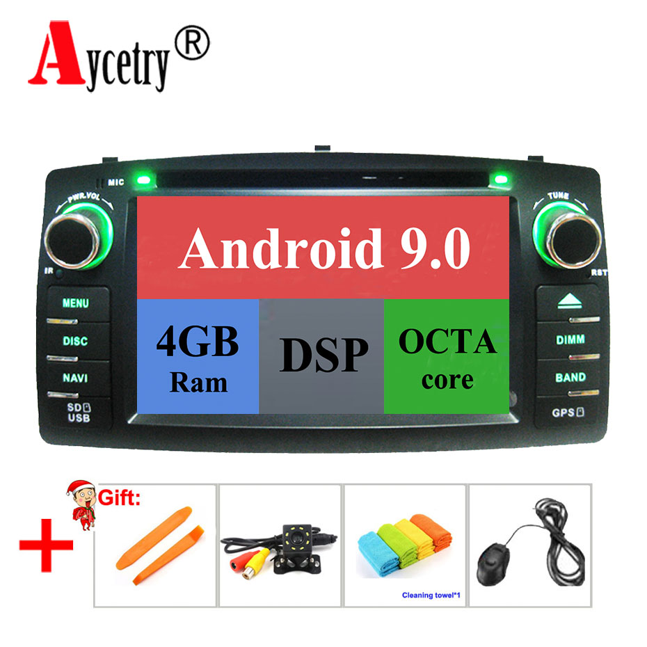 Aycetry DSP For TOYOTA Corolla E120 e 120 BYD F3 octa core 4G ram 2 din