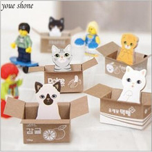 4piece/lots 24*40mm  Kawaii Office Stationery Sticky Notes Carton Cat Cute notes School Supplies