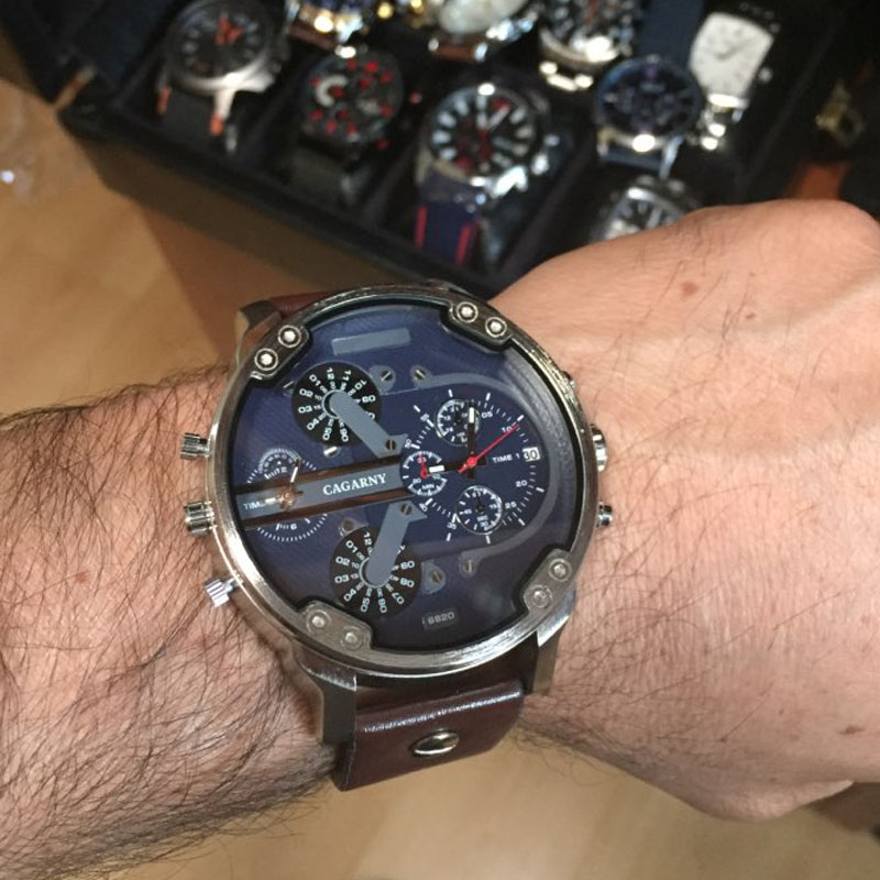 dual time zones military watch for men drop shipping sports watches (8)