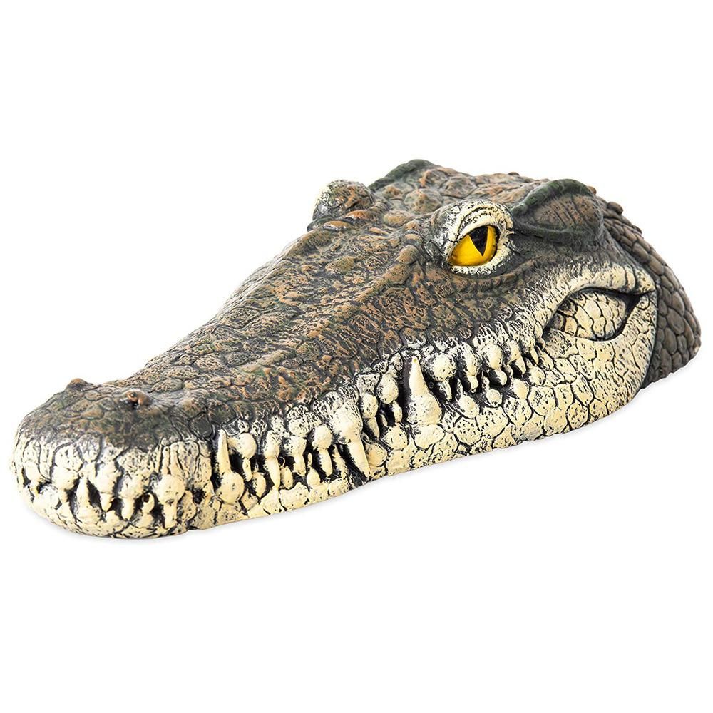 Floating Detailed Crocodile Head Ornament For A Pond or Water Feature The Garden