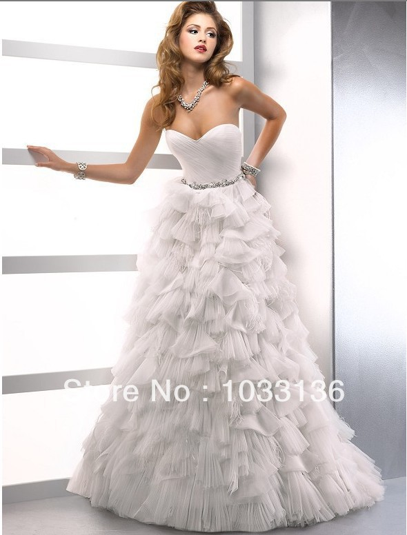 best price where can i buy a few days away Best Romantic Line Layers Sweet Heart Ball Gown Wedding ...