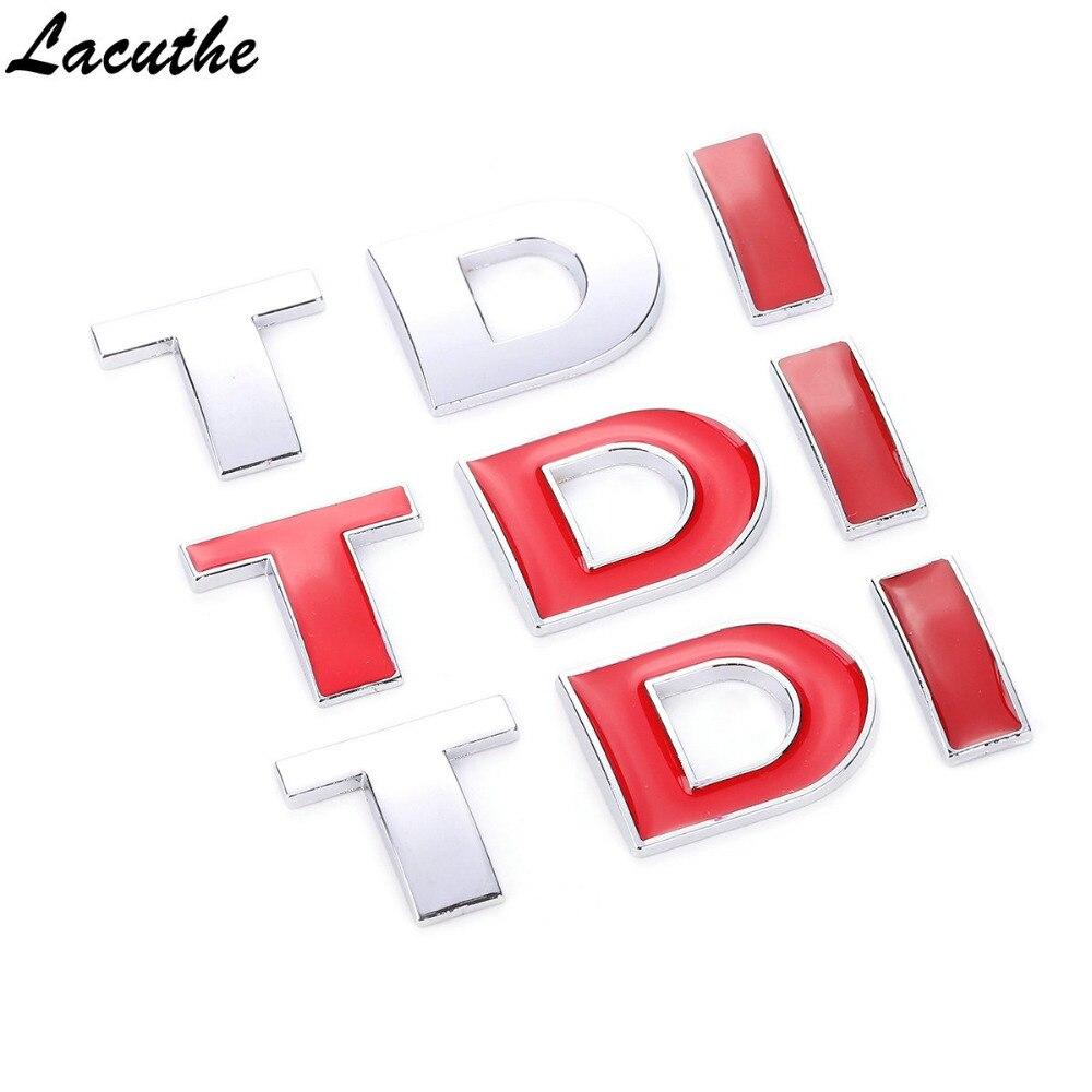 Car 3D TDI Badge Emblem Decal Sticker Logo For VW Golf JETTA PASSAT MK4 MK5 MK6 Skoda Seat Car Styling Car Accessories