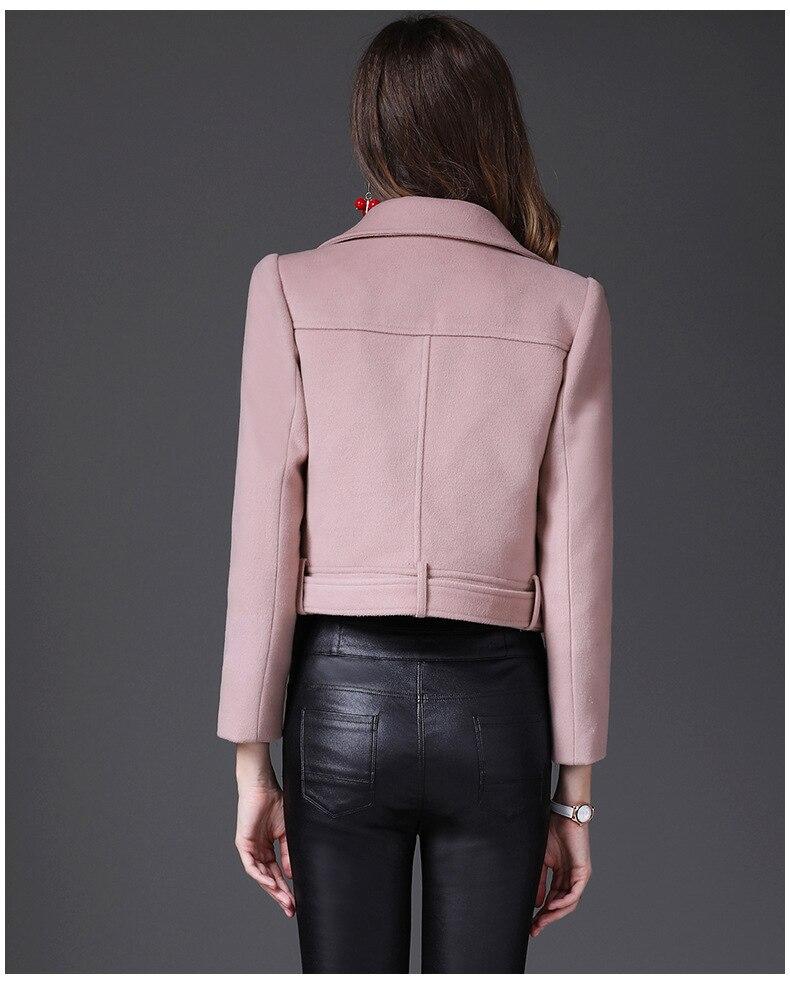 Новинка зимы короткая заметка шерстяной пиджак женский небольшой ладан тонкий дикий короткая куртка женская - 5