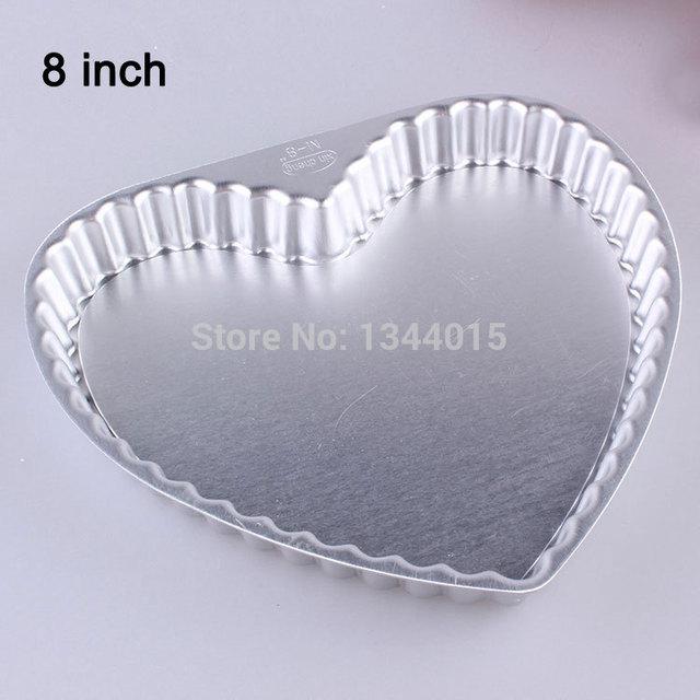 8inch Heart-shaped Aluminum Alloy Activity Bottom Cake Pie Pan Pizza Pie Mold Daisy Mould & 8inch Heart shaped Aluminum Alloy Activity Bottom Cake Pie Pan Pizza ...