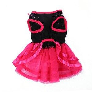 Image 3 - כלב הגעה חדש עלה פרח גזה טוטו שמלת חצאית גור חתול נסיכת בגדי הלבשה שמלת לכלבים כלב תלבושות
