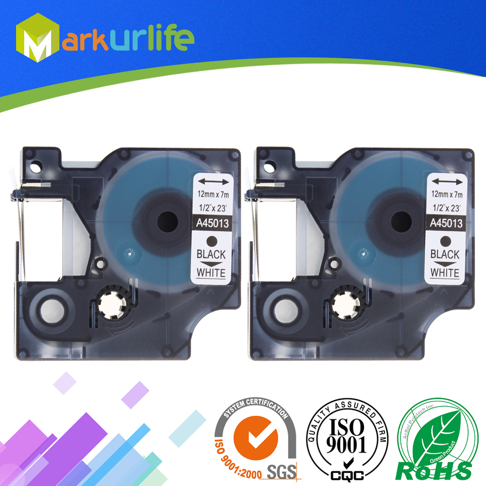 3 PK 45013 S0720530 Compatible for Dymo Label Tape Cartridge Black on White 12mm
