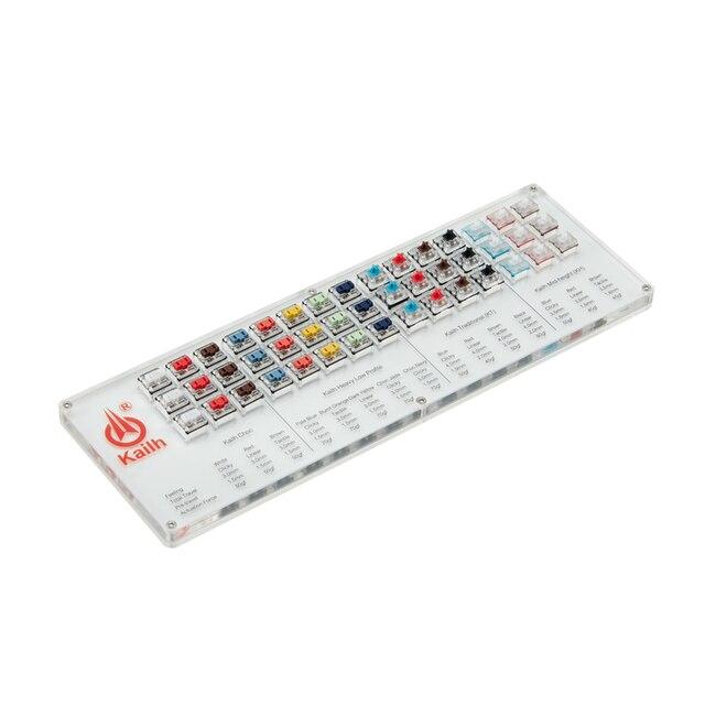 مفاتيح Kailh 45 مفتاح انظار لوحة المفاتيح الميكانيكية تشوك فاحص عدة كابس شفافة واضحة لأداة اختبار قبعات العينات