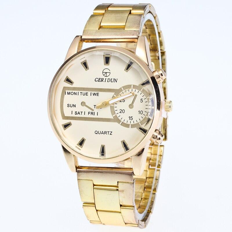 2017 Fashion Dress Watches Women Men Faux Chronograph Quartz Plated Classic Round Crystals Watch Relogio Masculino Clock