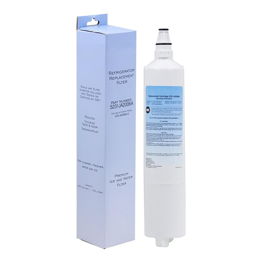 Livraison Gratuite Purificateur D'eau Des Ménages Réfrigérateur Filtre À Eau de Remplacement pour LG LT600P, 5231JA2005A, 5231JA2006 1 Pièce