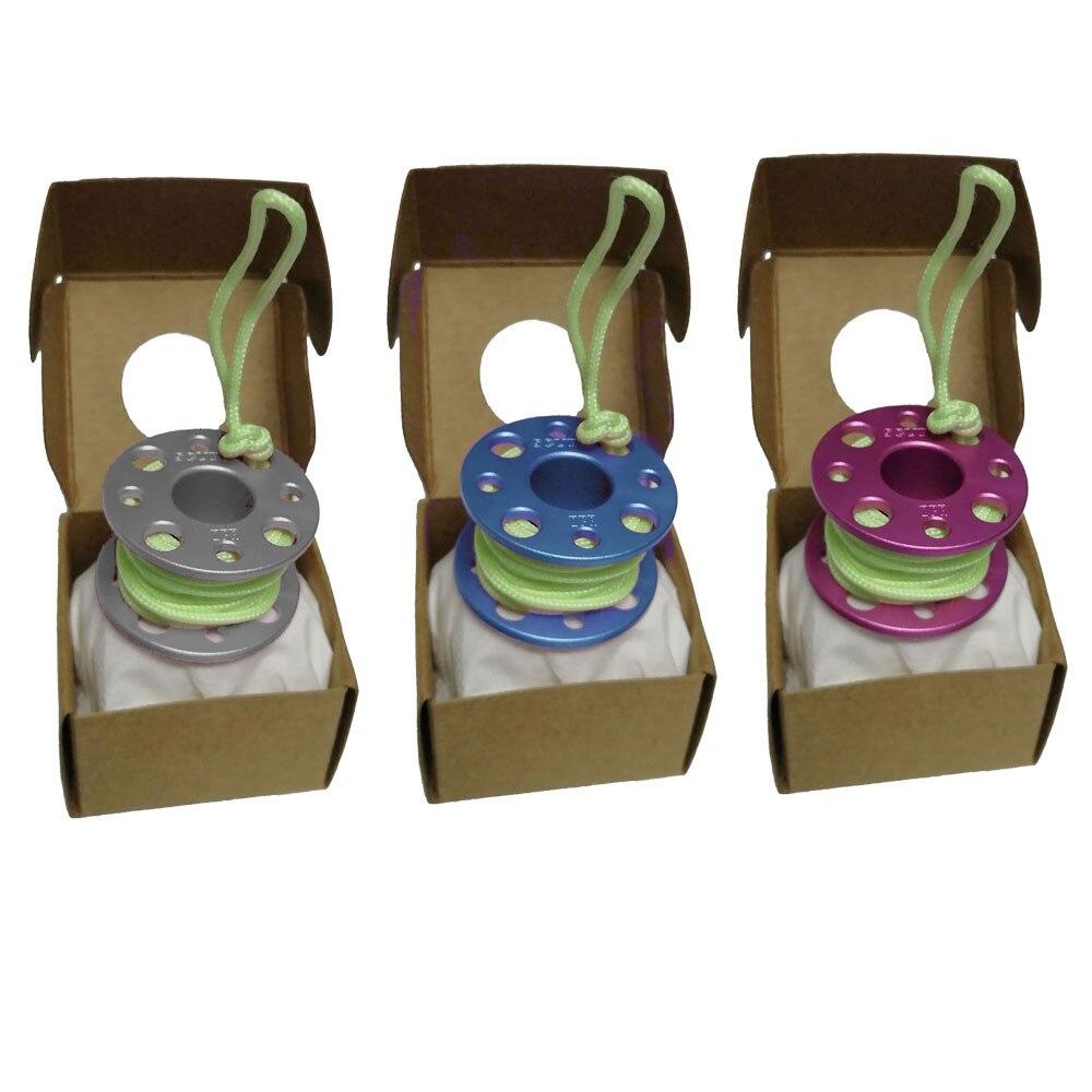 Mini Scuba Diving Finger Spool Reel Model Diving Gift With Line Reel Gift Diving Pendant Diver Bag Hang Decoration