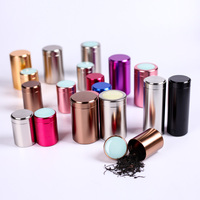Porcelain Metal Cans Tea Caddy Mini Gcaddy Small Sealed Canisters Portable Travel Gcaddy