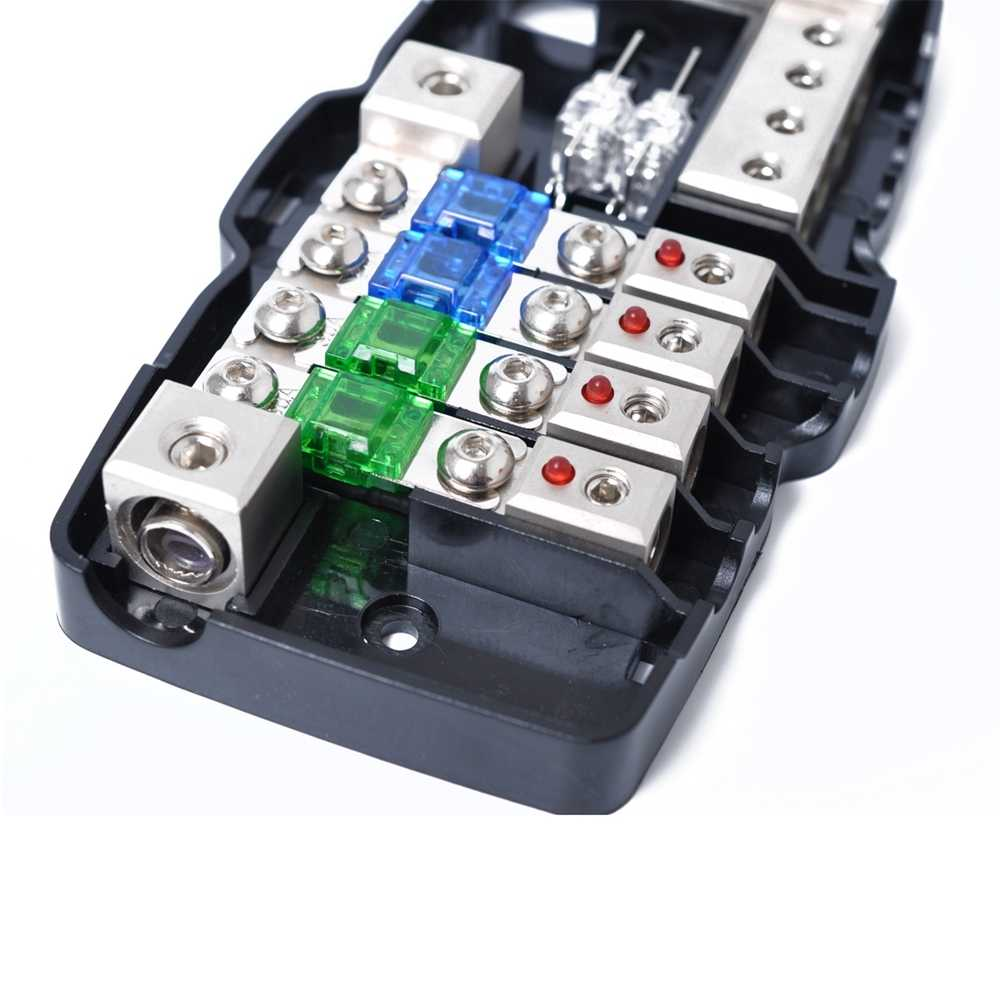 medium resolution of  car audio stereo distribution fuse block with ground mini anl fuse box 4 way led indicator