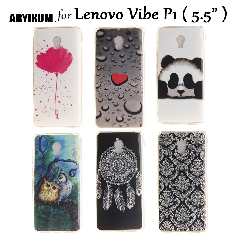 ARYIKUM Phone Protector Case For Lenovo Vibe P1 p1a42 p1 a42 Case 5.5inch Soft Silicone Mobile Accessories Cover For Lenovo P1