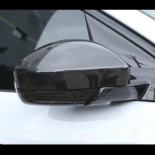Carbon Fiber Style Rearview Mirror Cover Trim For Land Rover Discovery Sport 15-18 Evoque For Jaguar F-pace 2016 ABS Car Styling warkings reborn