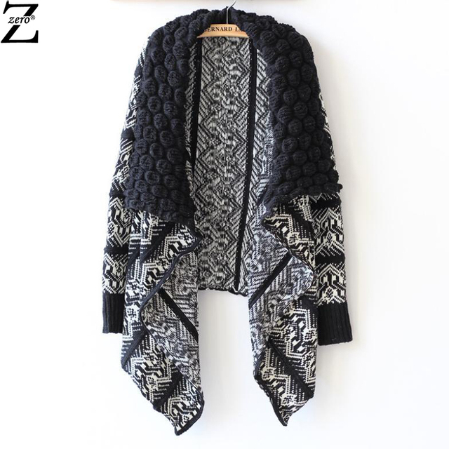 2015 Autumn and Winter Cardigan Fashion Women Sweater Women Big Casual Knitting Sweater jacket Women Shawl Coat JX#D59