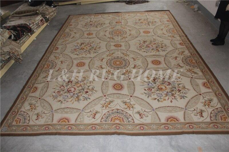 Livraison gratuite 9'x12' tapis à l'aiguille 100% nouvelle-zélande laine tapis riz cousu à la main tapis pour la décoration de la maison