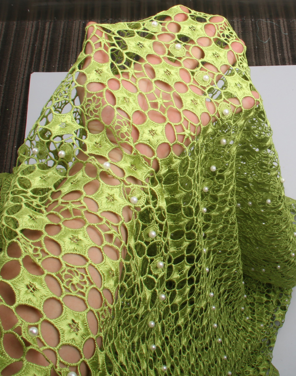 High quality nigerian wedding african lace fabric guipure cord lace fabric for african party 5yards lot