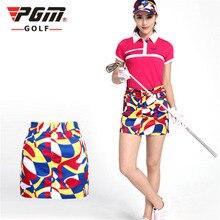 Фирменное xs-xl pgm короткая досуг гольфа леди юбка печати гольф спорт