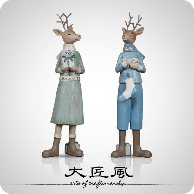 A big wind designer Nordic wind fairy tale deer deer Memorial gift ...