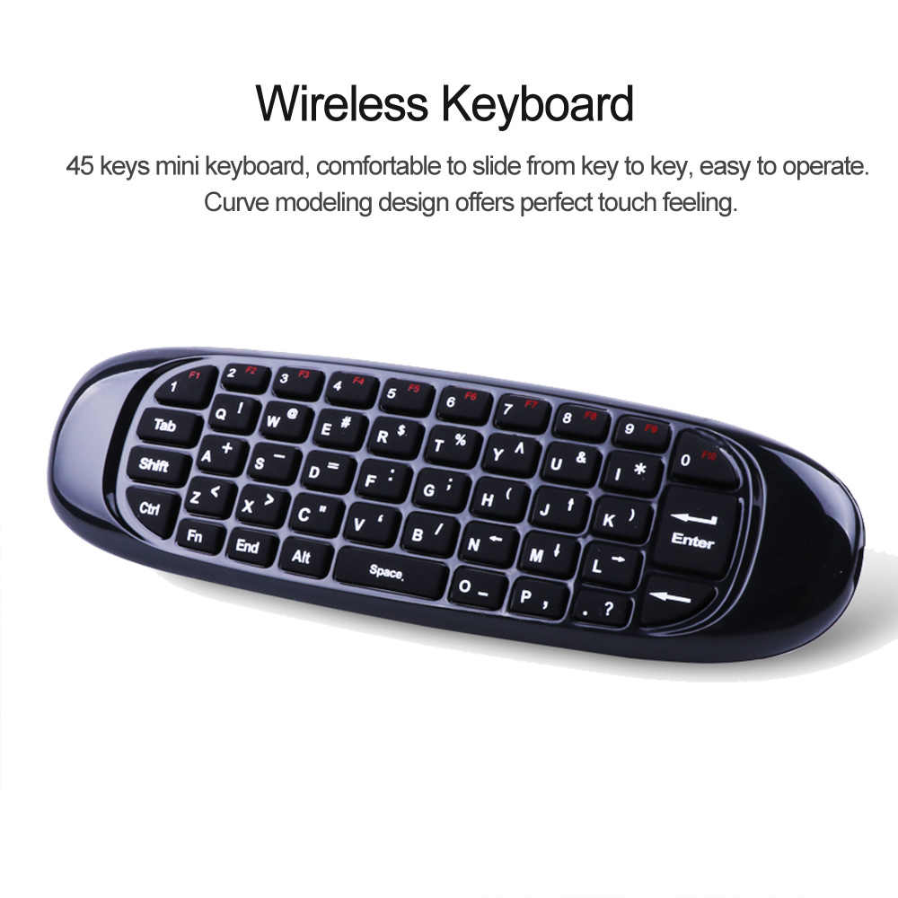 6 axes Gyroscope C120 2.4G Air souris Rechargeable sans fil clavier télécommande pour Android TV Box ordinateur Version anglaise