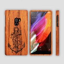 Для Xiaomi mi смешивания Case Дерево Крышка Природный Настоящее Бамбук резьбой Деревянный Задняя Крышка телефон случаях Для xiaomi mix 6.4 дюймовый